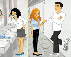 Ilustrações para campanha interna de manutenção predial. Cliente: GLOBOSAT