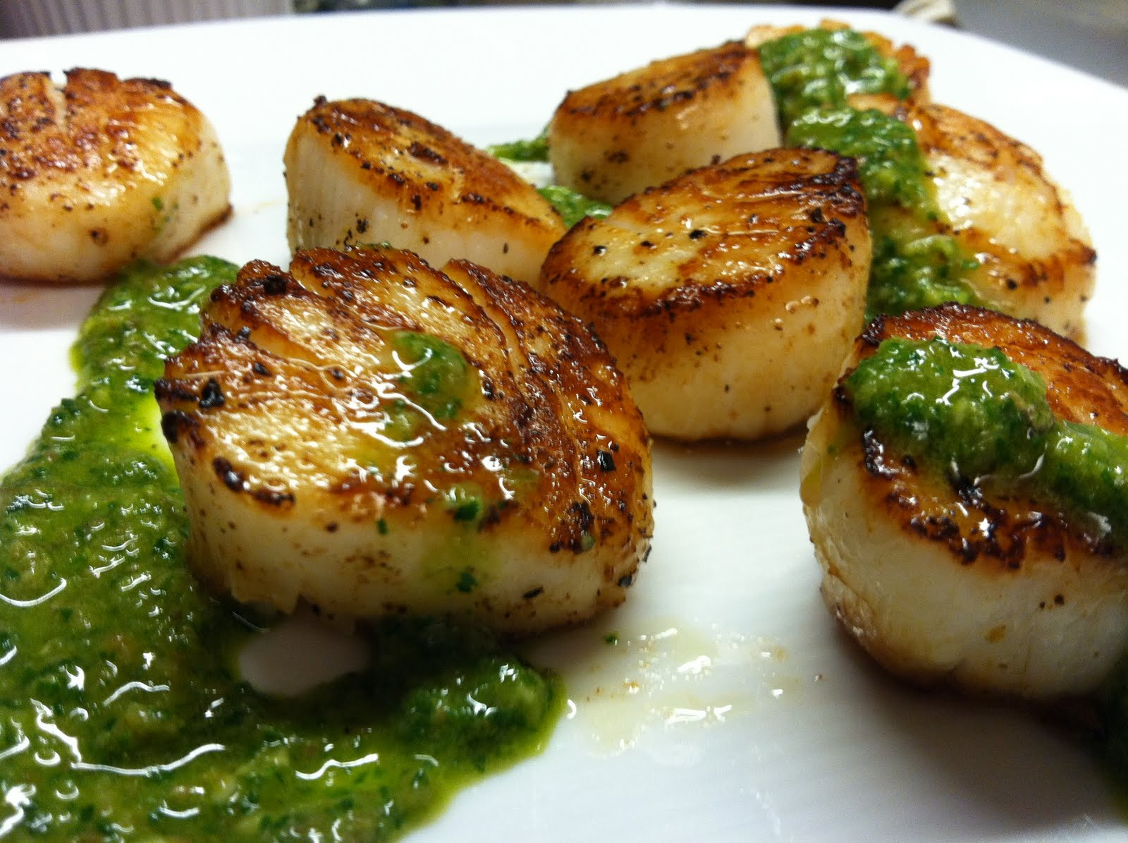 leeks seared scallops with salsa verde recipe yummly seared scallops a ...