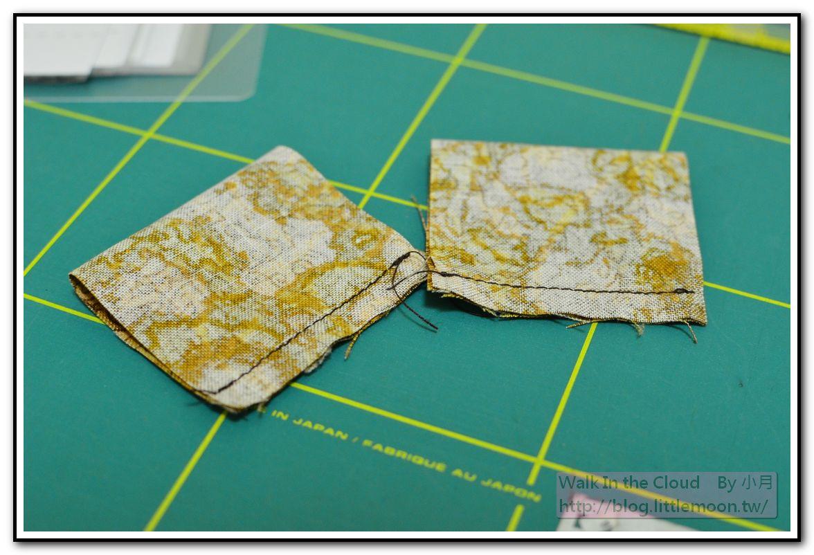 鬱金香花布(5cm * 9cm) 對折車縫