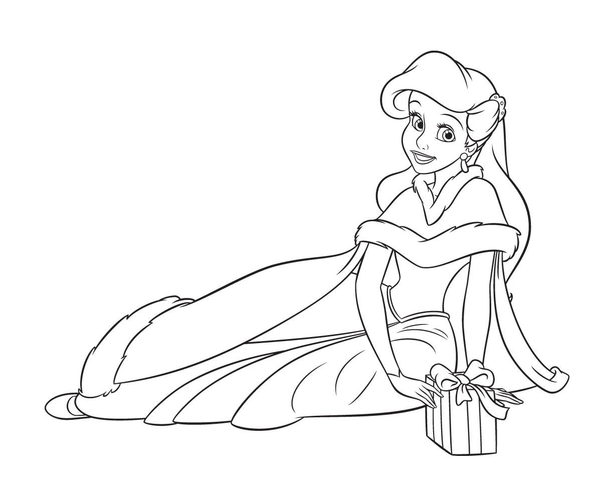 Ariel Princess Coloring Pages