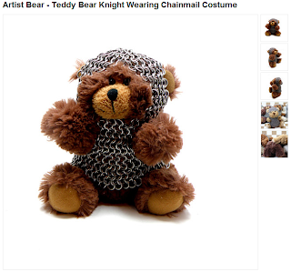 Artist Bear Wearing Chainmail Armor