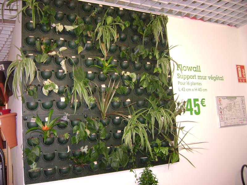 Jardins clairi re diy living wall mur vegetal - Mur vegetal interieur diy ...