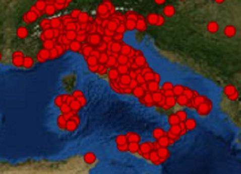 diffusione in Italia al 26.12.2012