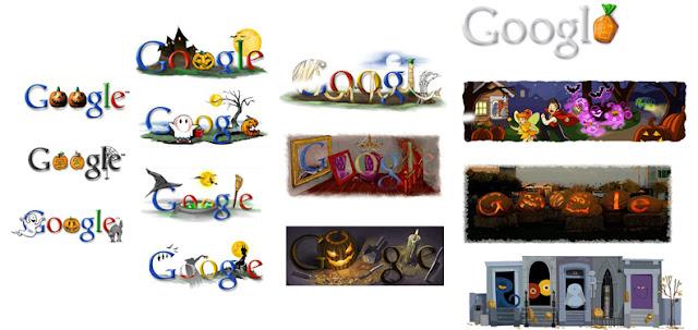 Doodles de Halloween de Google