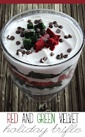 Red and Green Velvet Holiday Trifle
