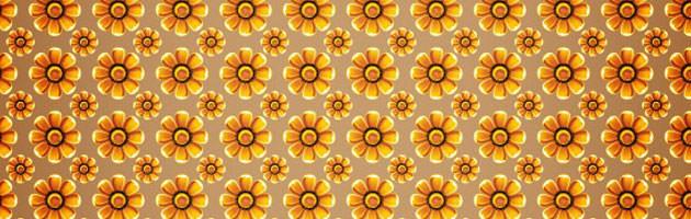 元気な雰囲気の花のイラストのデザインパターン | 商用利用も可なフリーの花柄パターン素材