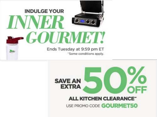 The Shopping Channel Extra 50% Off Kitchen Clearance Promo Code