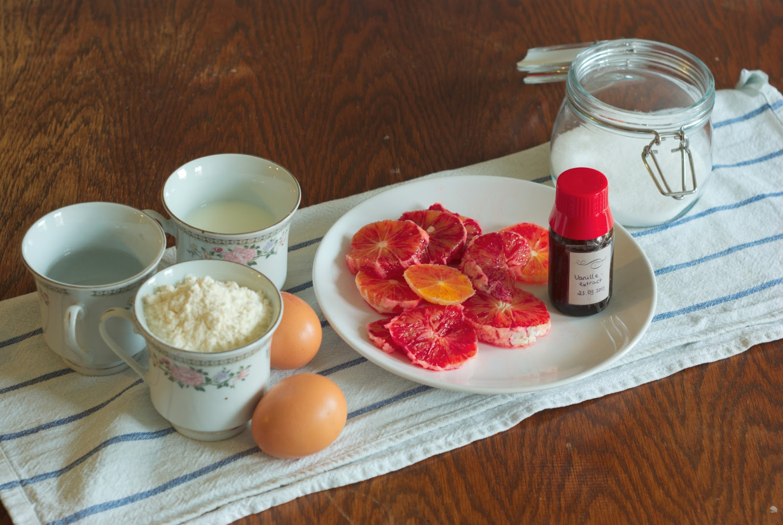 Cake and Julia: Rosewater Crepes with Blood Orange Compote