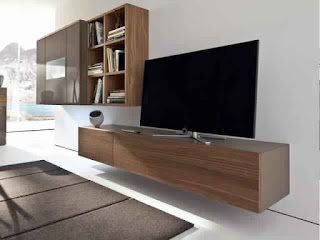 Meuble TV suspendu bois