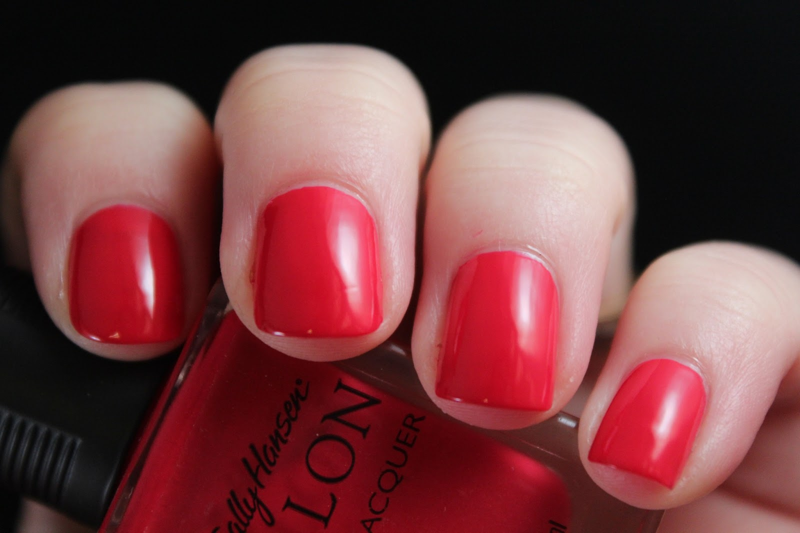 Red- Today we have Sally Hansen Salon Cherry Nice - two coats, smooth ...