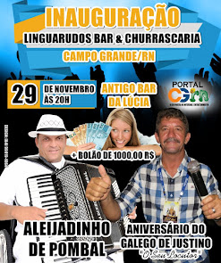 Inauguração do Linguarudos Bar & Churrascaria com Aleijadinho de Pombal em Campo Grande
