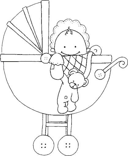 Dibujos y Plantillas para imprimir: Babyshower