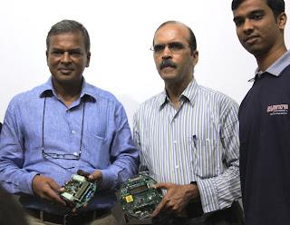 Prof. Kavi Arya and Prof. Krithi Ramamritham at the launch of e-Yantra 2013