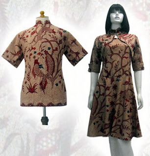 PO A19 MODEL BAJU BATIK WANITA MODERN