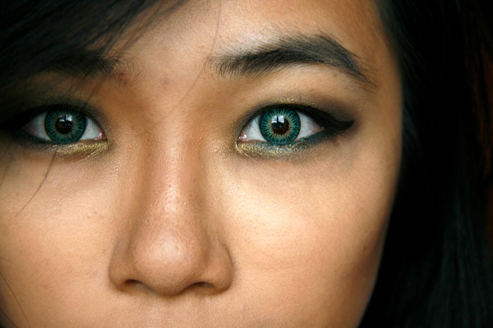 Dark Green Eye Contacts fun size beauty...