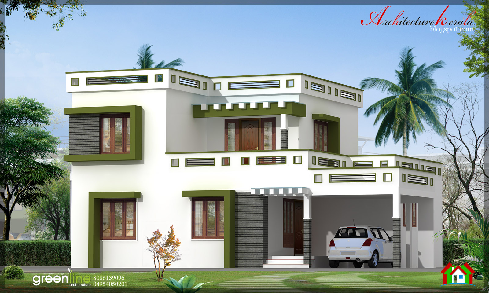 simple and nice design of kerala home design in 1700 sq ft in this