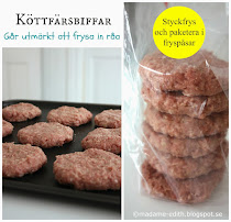 Frys in råa köttfärsbiffar