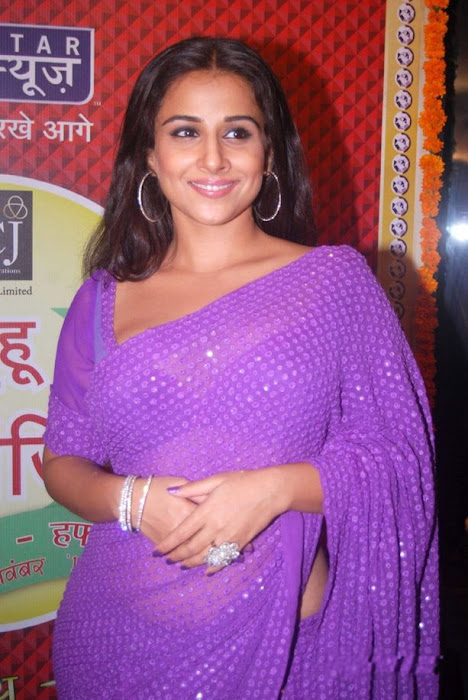 vidya balan in transparent sareeat star plus saas bahu saasish  latest photos