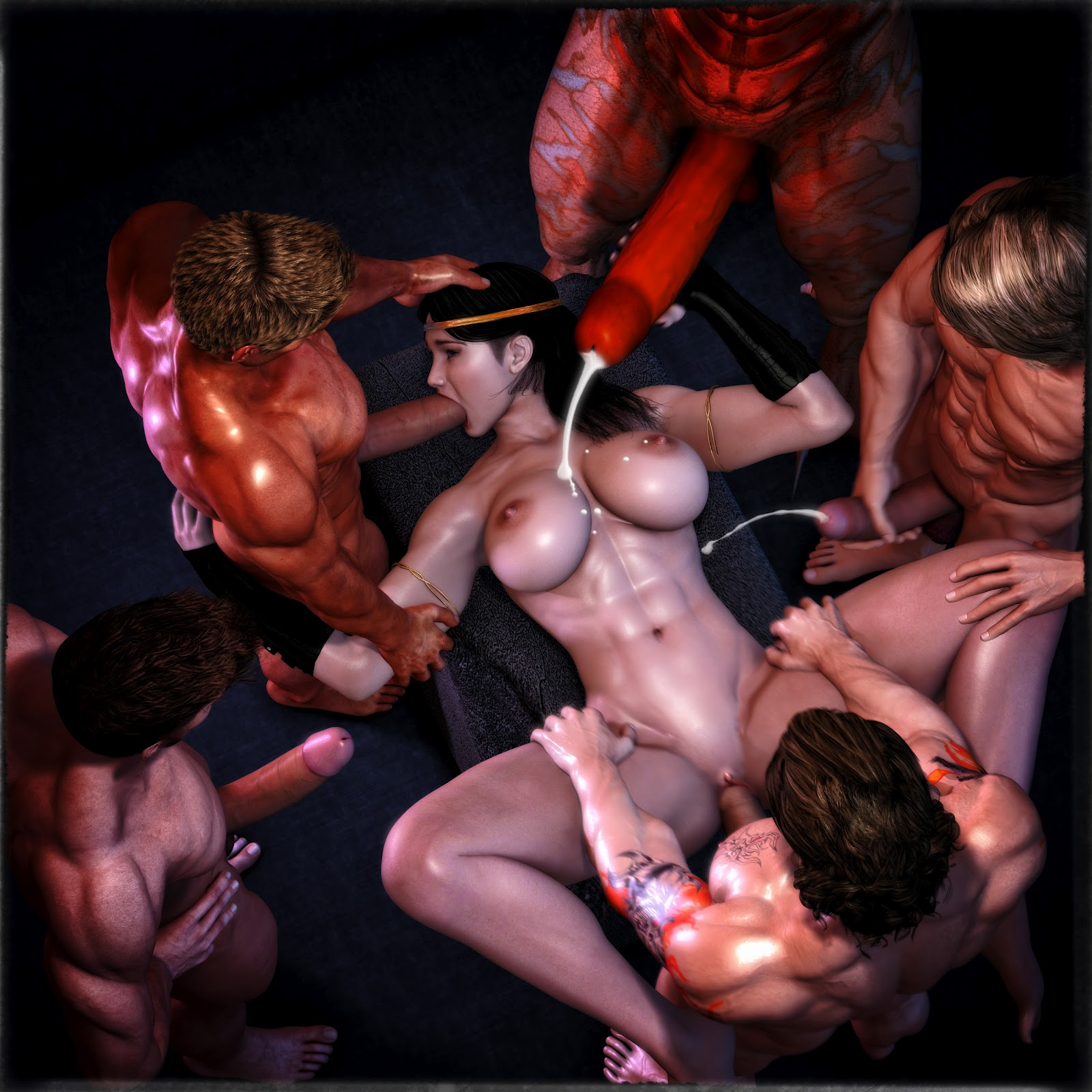 Gang bang 3d porn video xxx toons