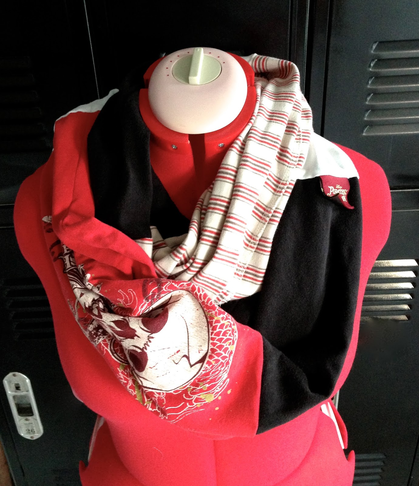 Merryweather 39 s cottage diy circle scarf from upcycled for Diy custom t shirts