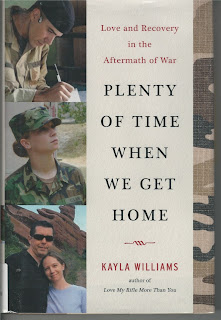 Cover shows three pictures. One is young man in military camouflage writing, another is a woman in camouflage. The third shows the two of them in regular civilian clothes outdoors.