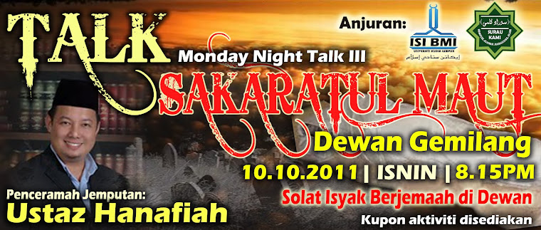 banner talk Sakaratul maut design by as-suff