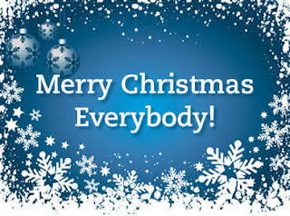 Merry Christmas wishes wallpaper with snowflakes and white babules