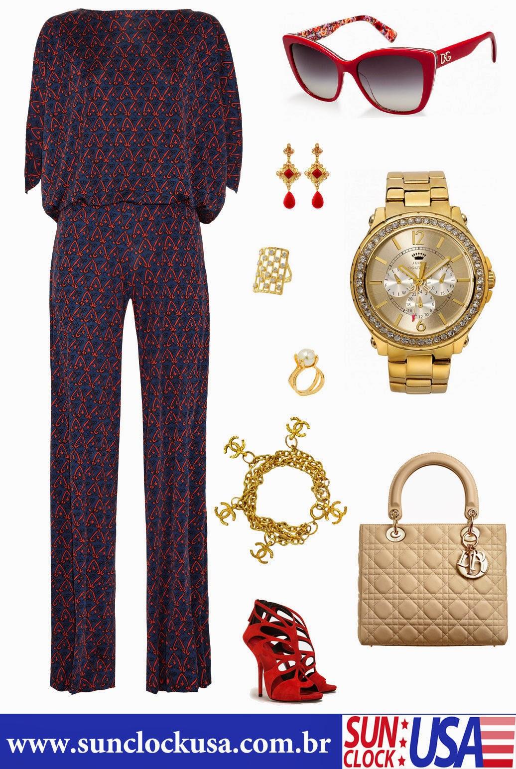 Relógios Juicy Couture e Óculos Dolce & Gabbana