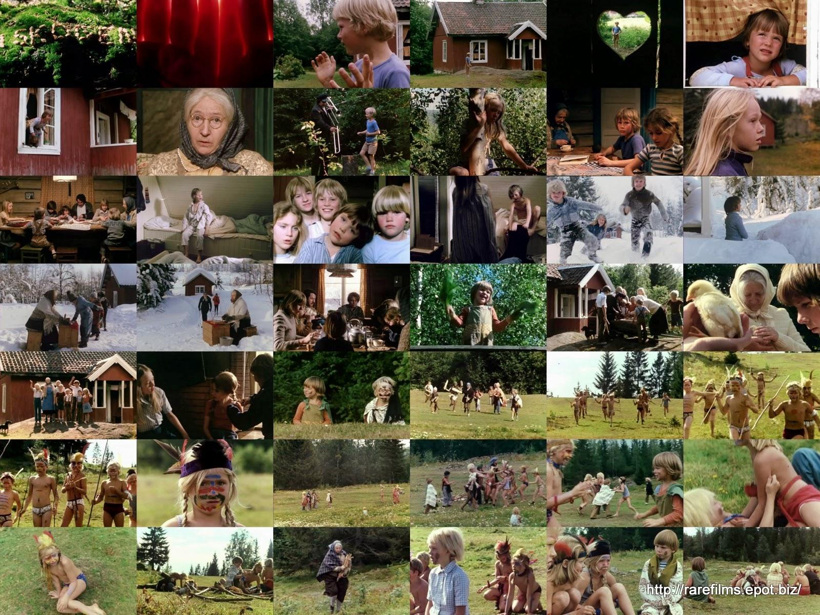 Бабушка и восемь детей в лесу / Mormor og de åtte ungene i skogen.