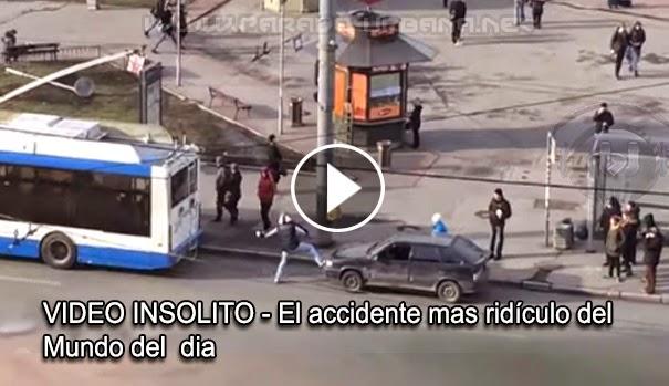 VIDEO INSÓLITO - Se puede considerar como el Accidente mas ridículo del mundo