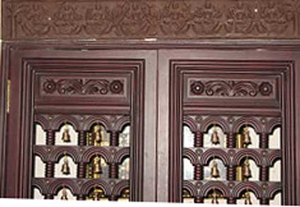 Latest Pooja Room Door Frame And Door Design Gallery - Wood Design ...