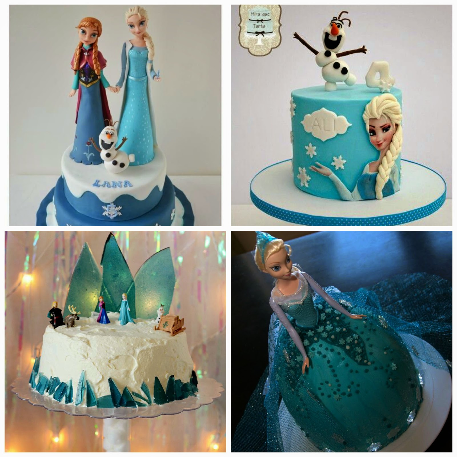 tarta de cumpleaños frozen disney blog niños mama de noa