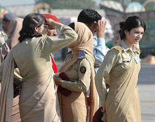 Why Females In Pakistan Army Wears Indian Dress