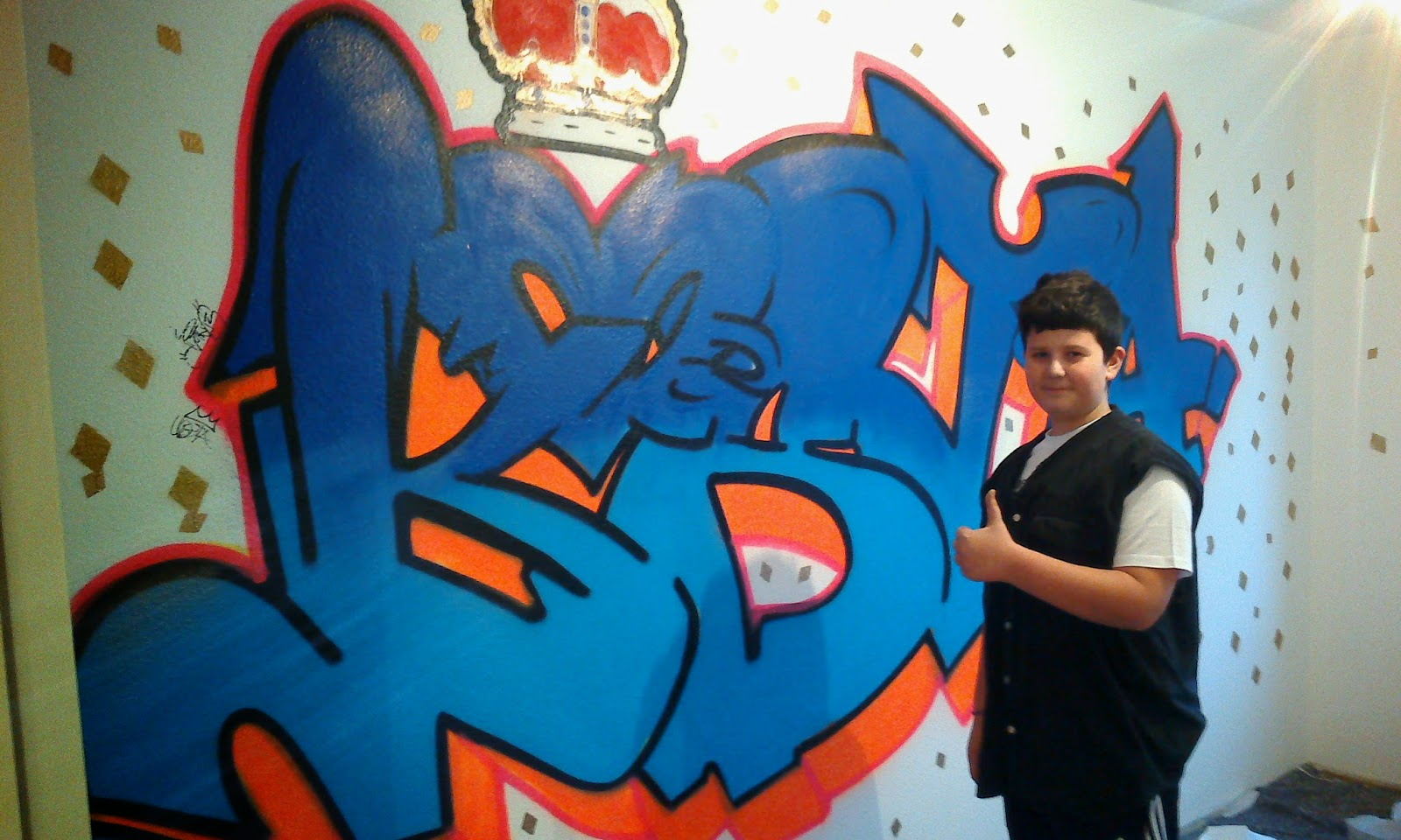 Vorbereitung und durchf hrung auftrag bei kosta go4graffiti - Graffiti zimmerwand ...