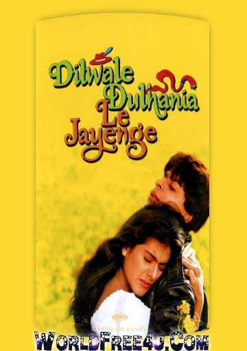 Poster Of Hindi Movie Dilwale Dulhania Le Jayenge (1995) Free Download Full New Hindi Movie Watch Online At worldfree4u.com
