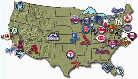 Next Major League Expansion Team Major League Baseball - Us map of mlb teams