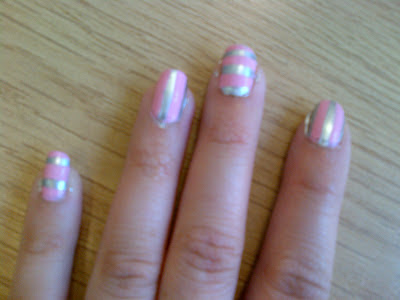 line stripe nail art nicki minaj nail polish