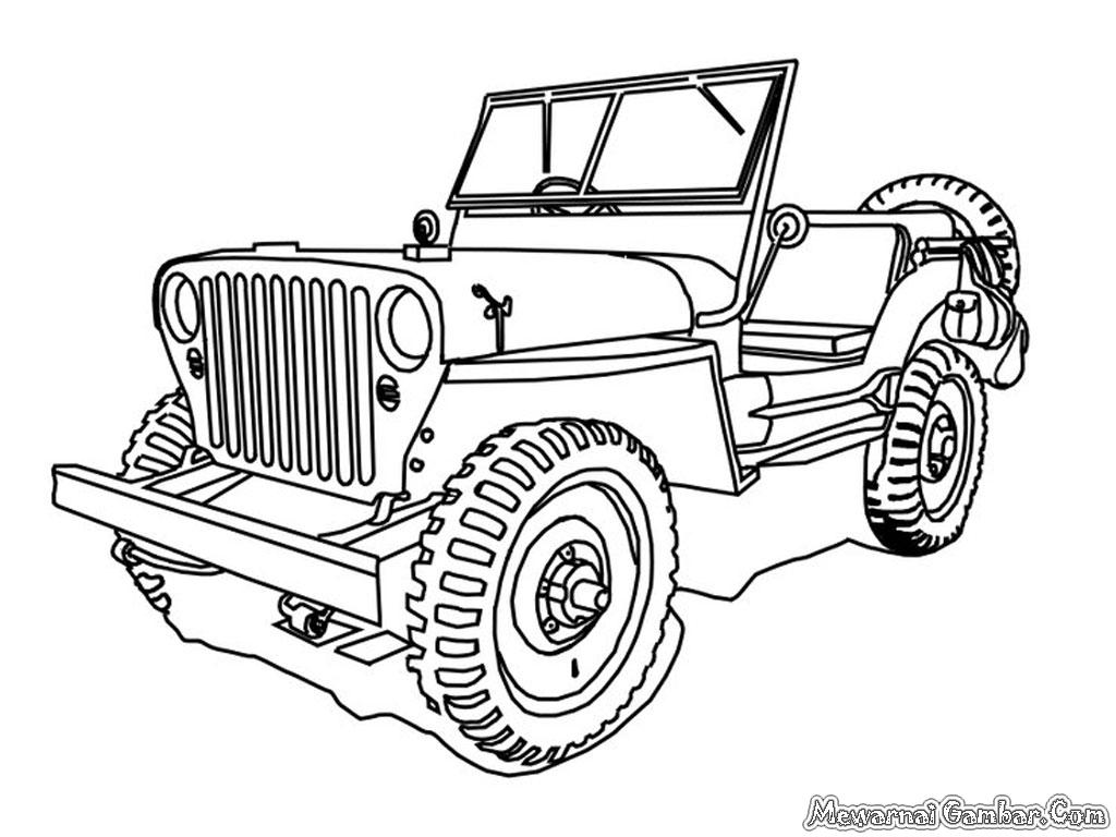 buah gambar mobil Jeep untuk diwarnai silahkan semua gambar