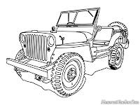 Download Gambar Mobil Jeep Untuk Diwarnai