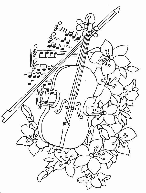 Dibujo de musica para colorear