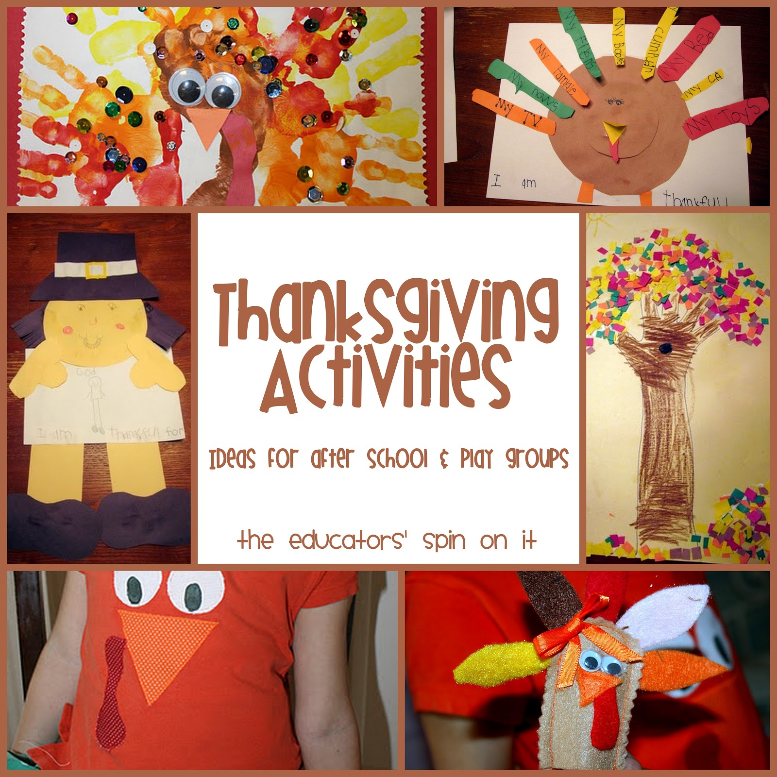 Activities Crafts Games: The Educators' Spin On It: Thanksgiving Activities For Kids