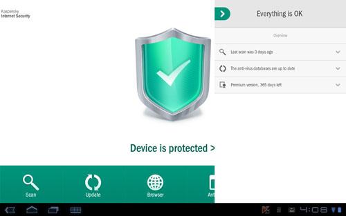 Aplikasi Android Kaspersky Mobile Internet Security