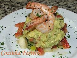 Saladinha de camarão com guaca!!