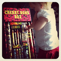 Baby with Fireworks