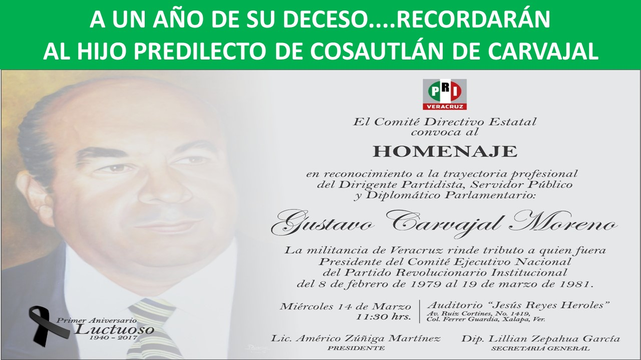 in memoriam don gustavo carvajal