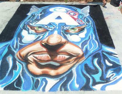 Sidewalk Chalk Drawing