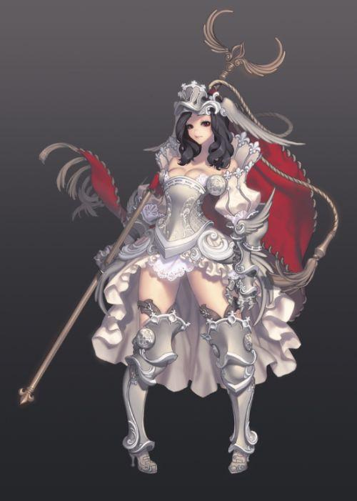 Gwon Yun Jeong lovecacao illustrations fantasy women beautiful sexy Standard bearer