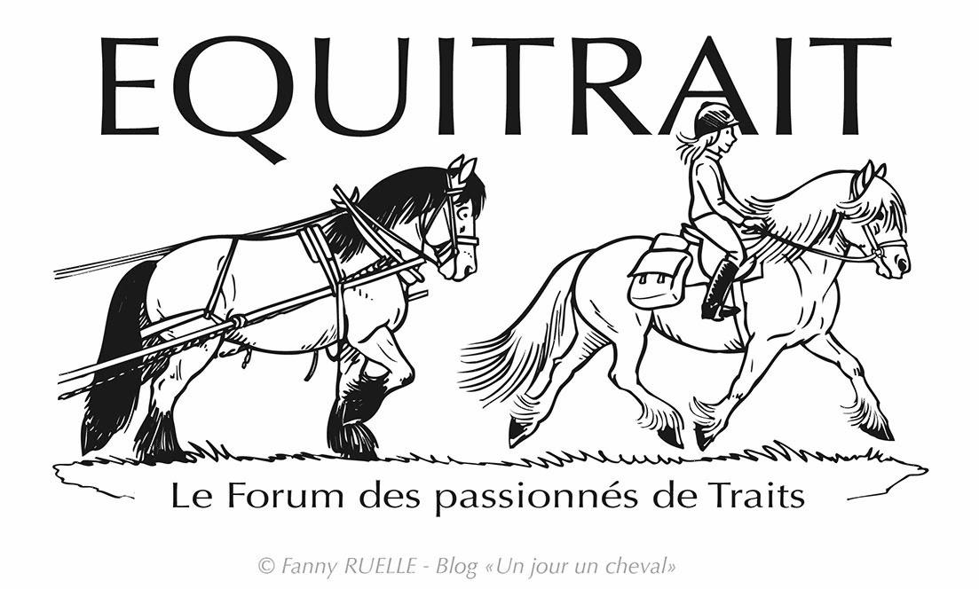 Un jour un cheval autres logos de chevaux autres - Dessin cheval de trait ...