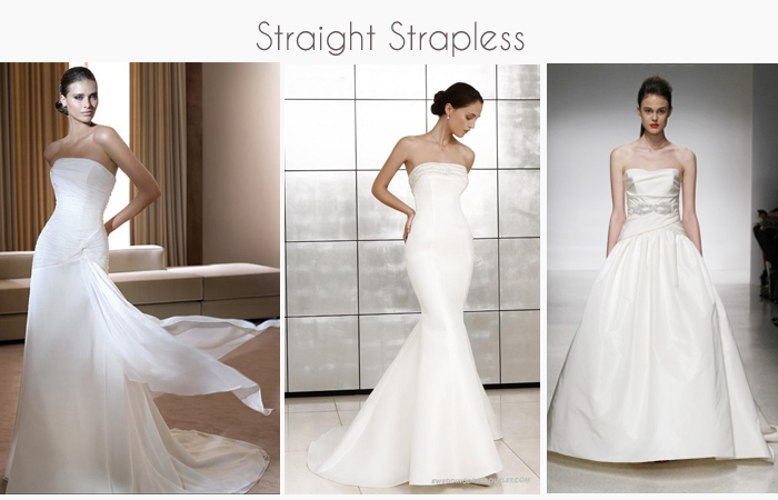 Strapless Wedding Gowns and Dresses