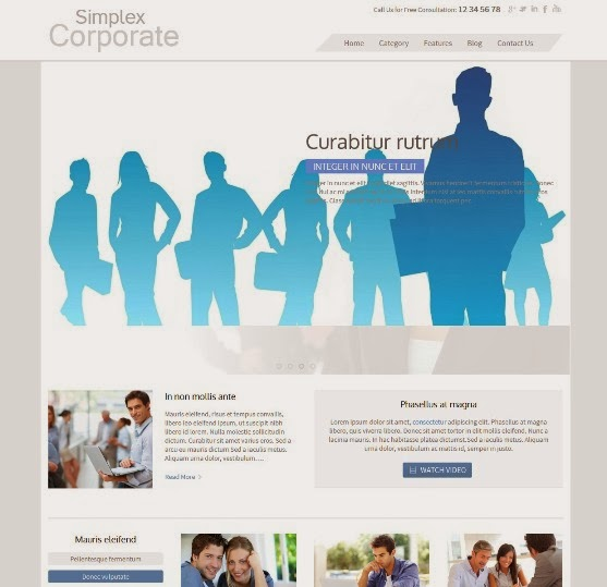 SimplexCorp Blogger Business Template